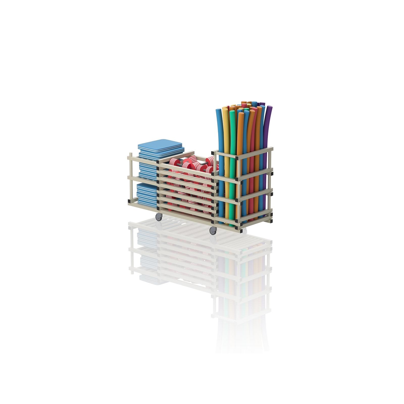 Multipurpose Storage Trolley Cream