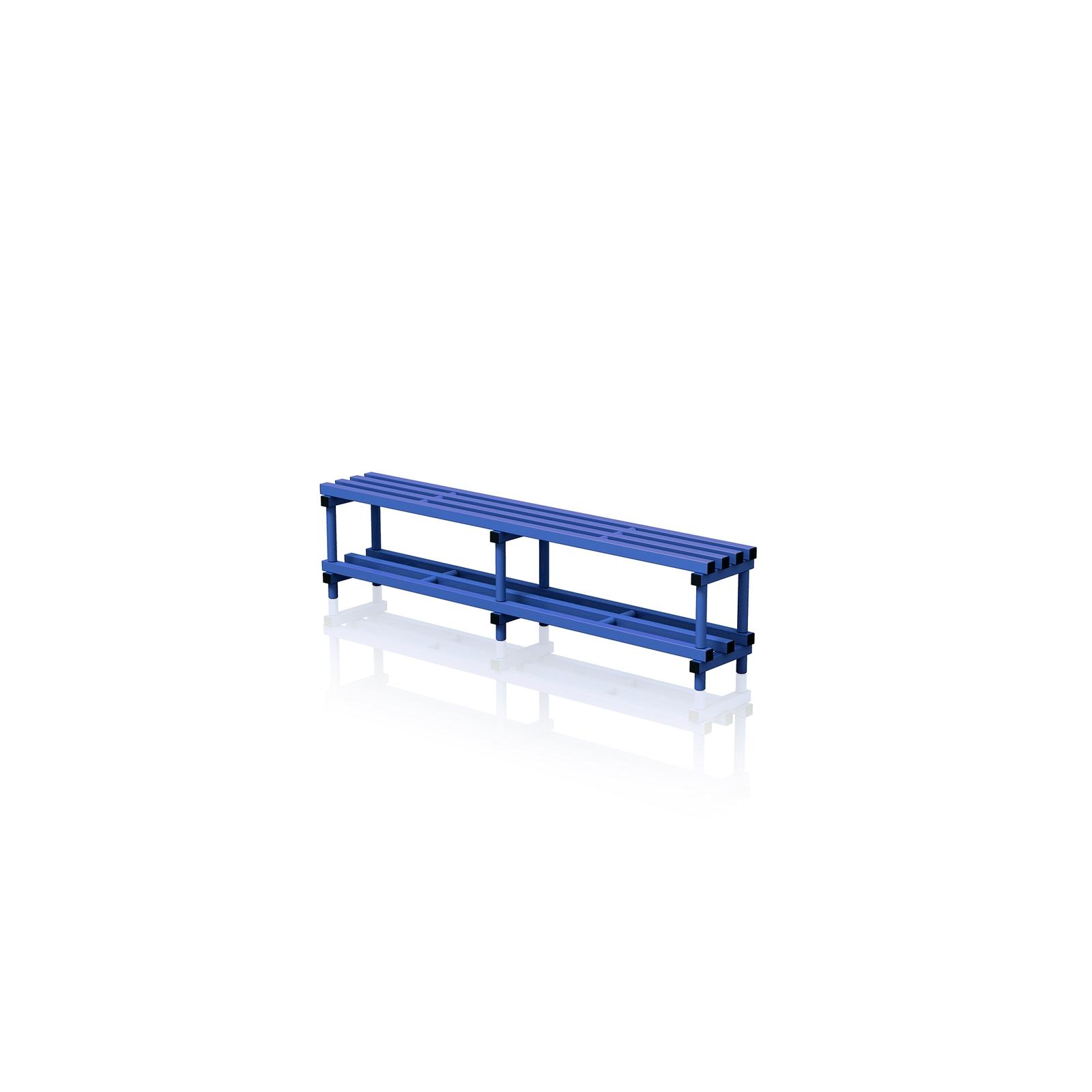 Bench With Bottom Shelf Large Blue