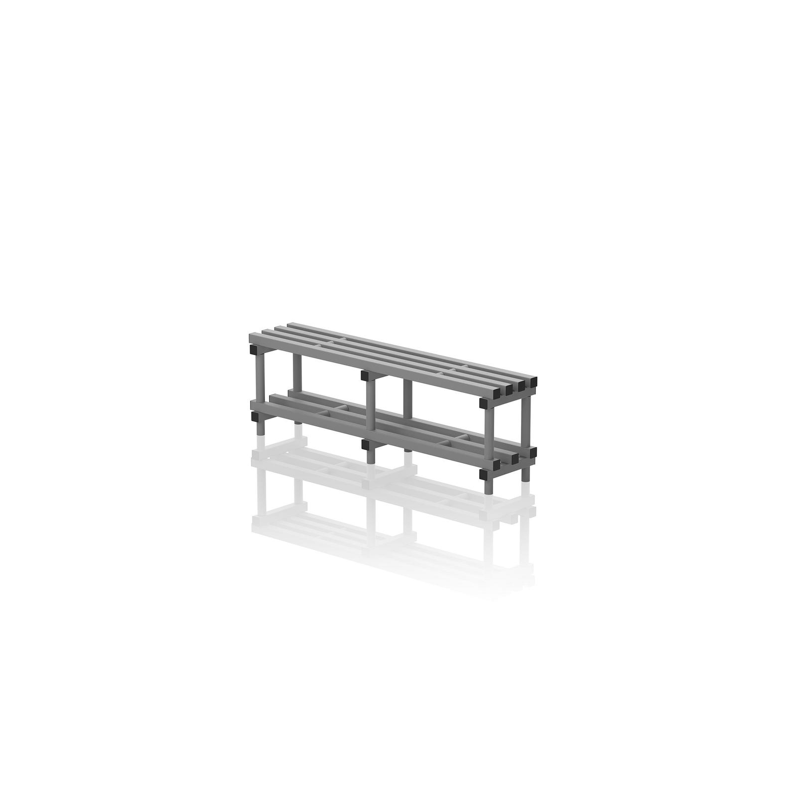 Bench With Bottom Shelf Large Grey