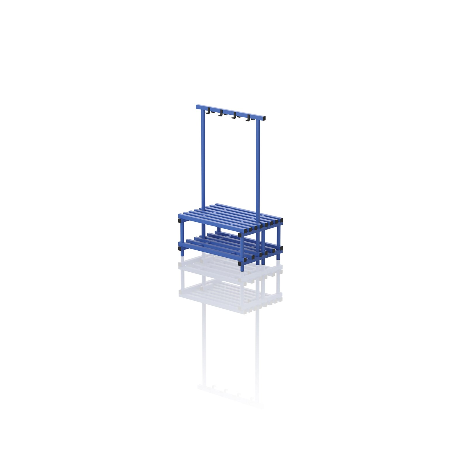 Double Bench With Hanger Small Blue