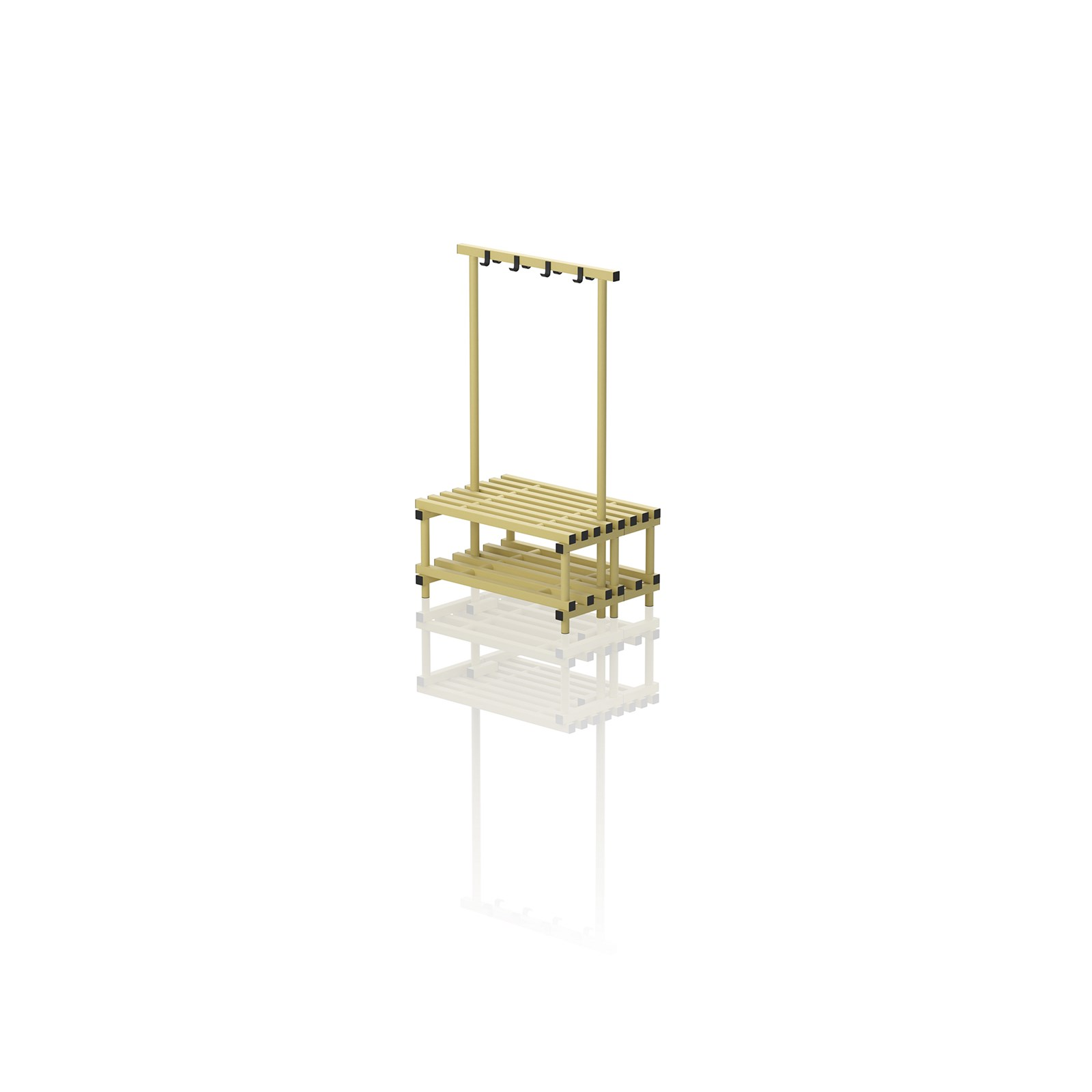 Double Bench With Hanger Small Yellow