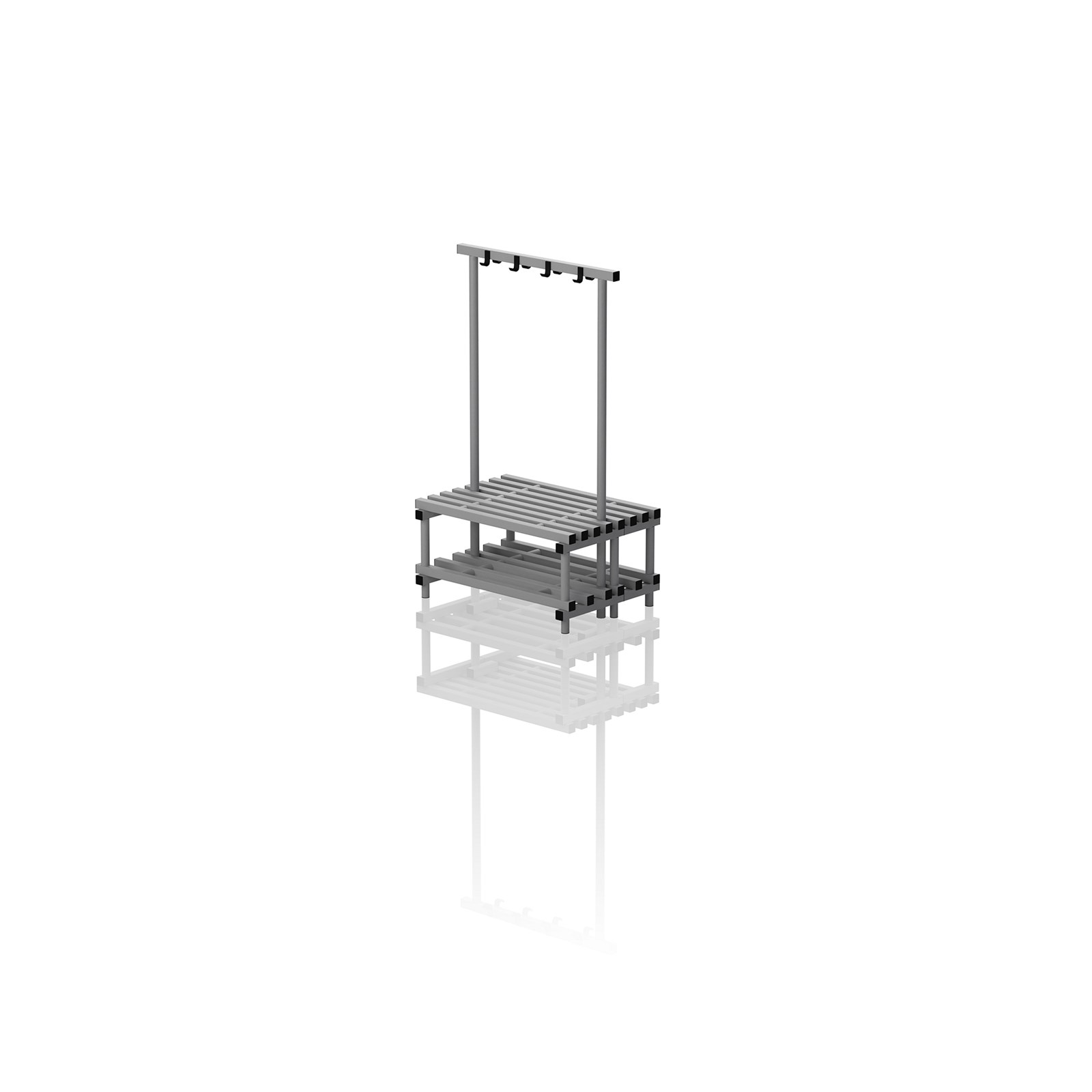 Double Bench With Hanger Small Grey