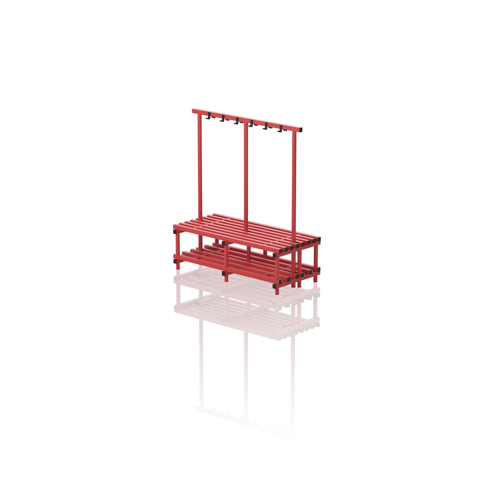 Double Bench With Hanger Medium Red