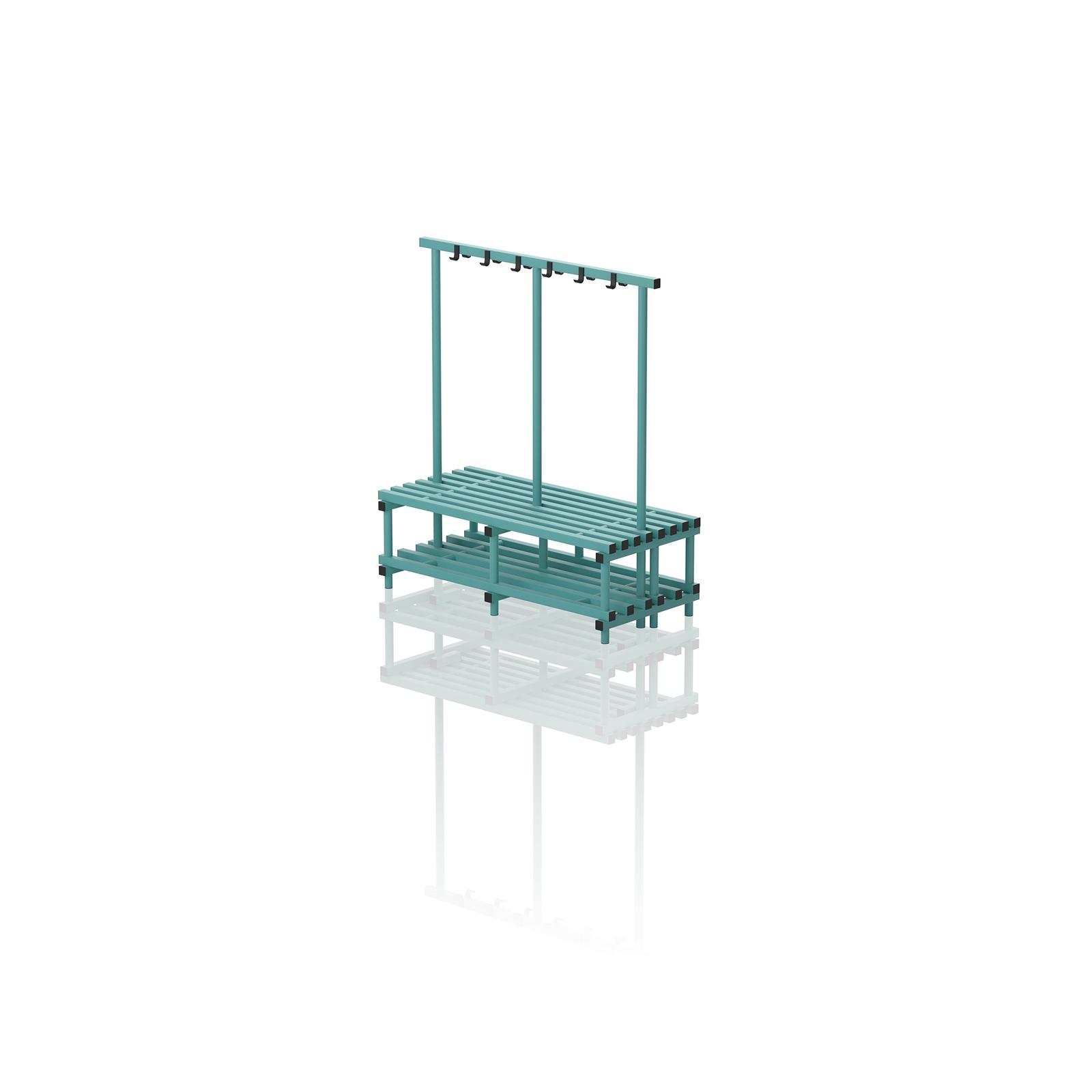 Double Bench With Hanger Medium Aqua