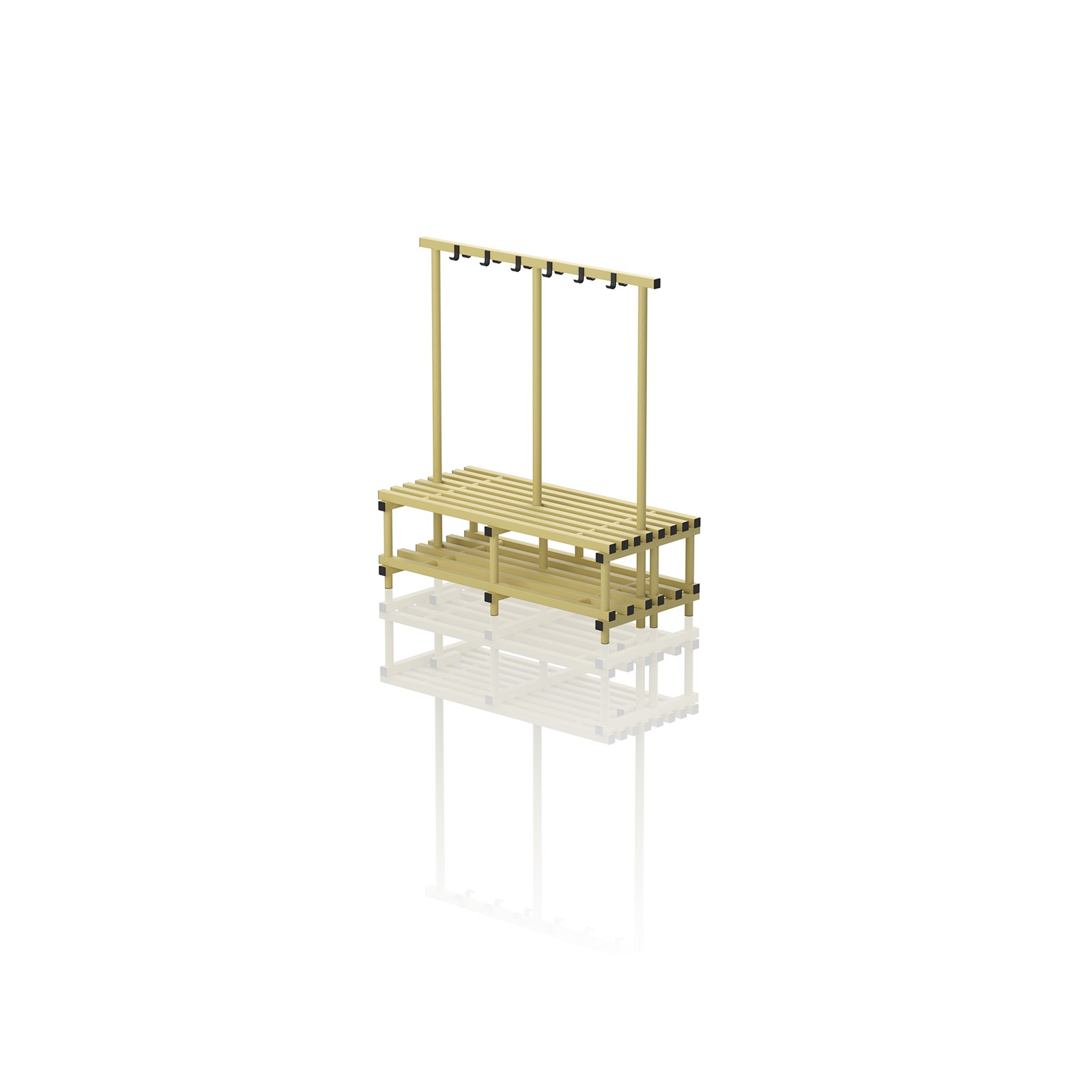Double Bench With Hanger Large Yellow