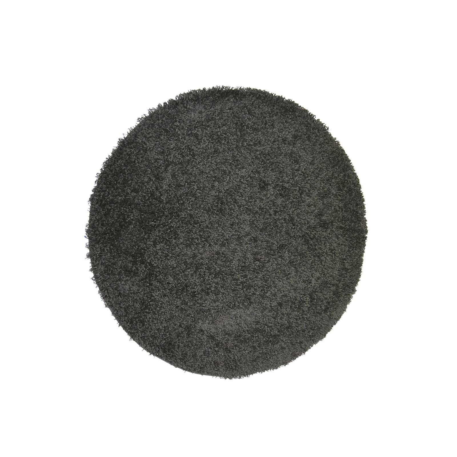 Grey Thick Tassel 1.2m Circular Rug