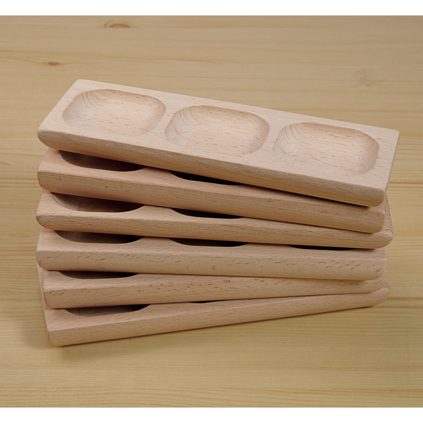3-Pebble Word-building Trays - Set of 6