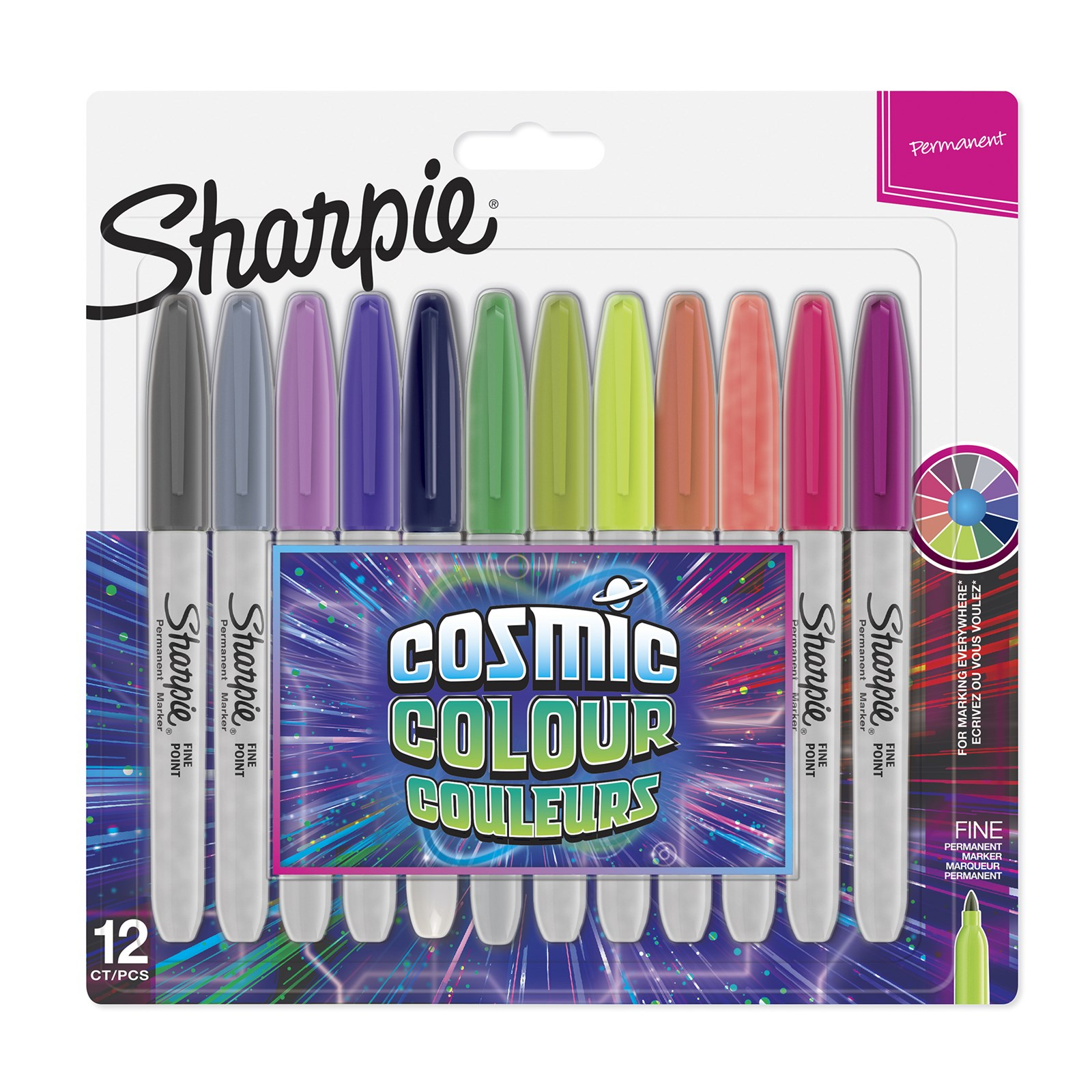 Sharpie® Colour Permanent Markers Assorted Pack 12