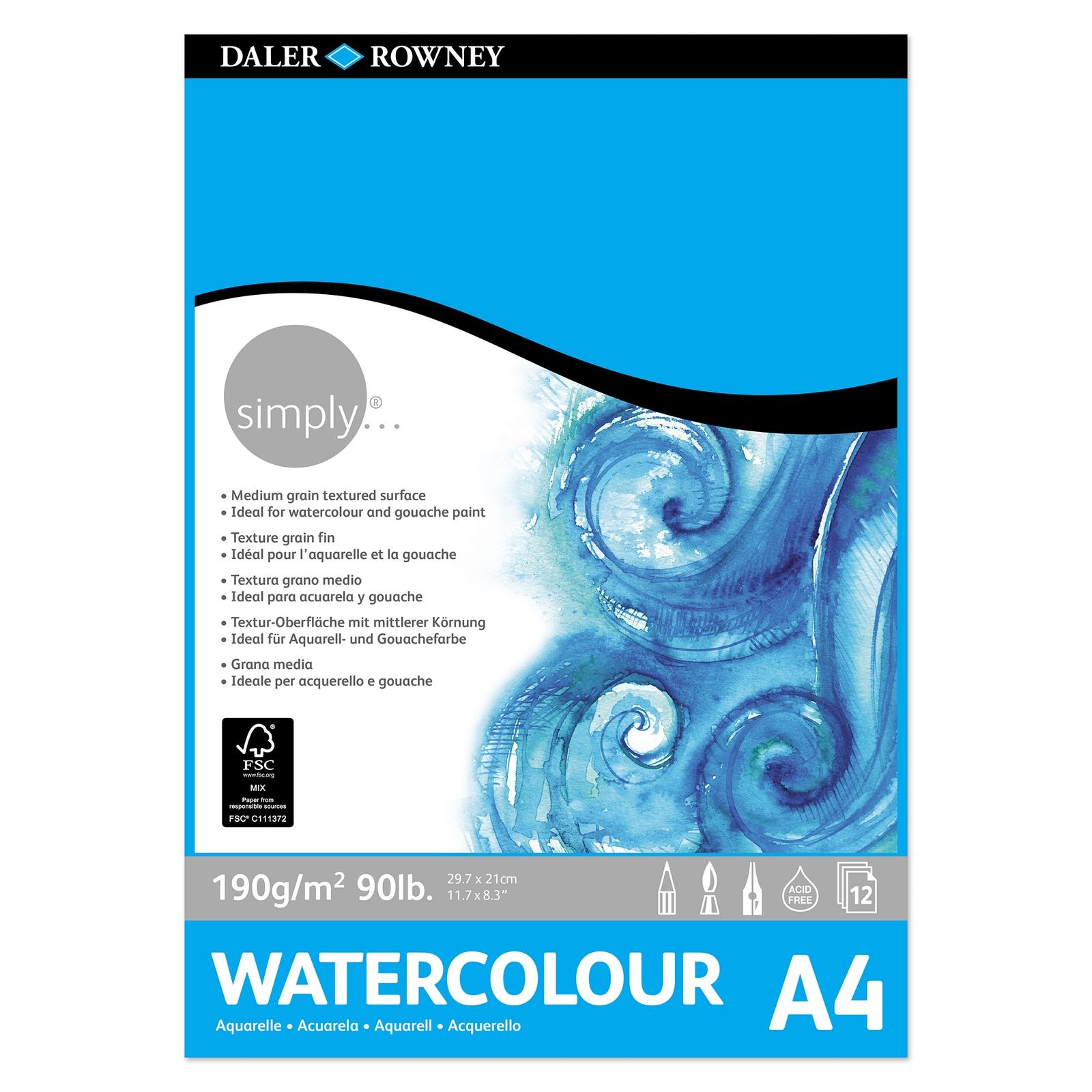 Simply Watercolour Pad - A4