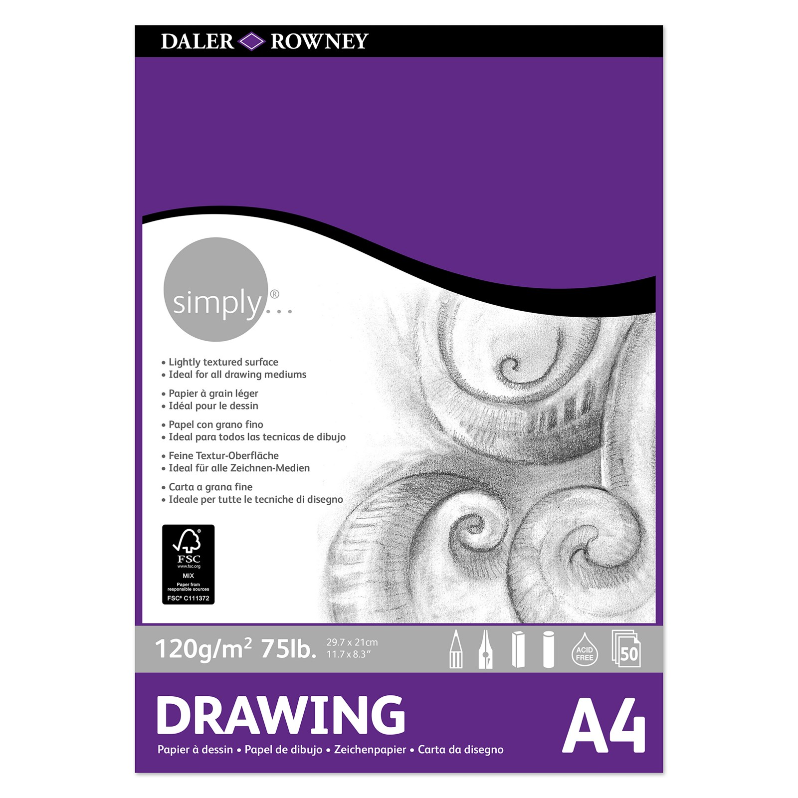 Simply Drawing Pad - A4