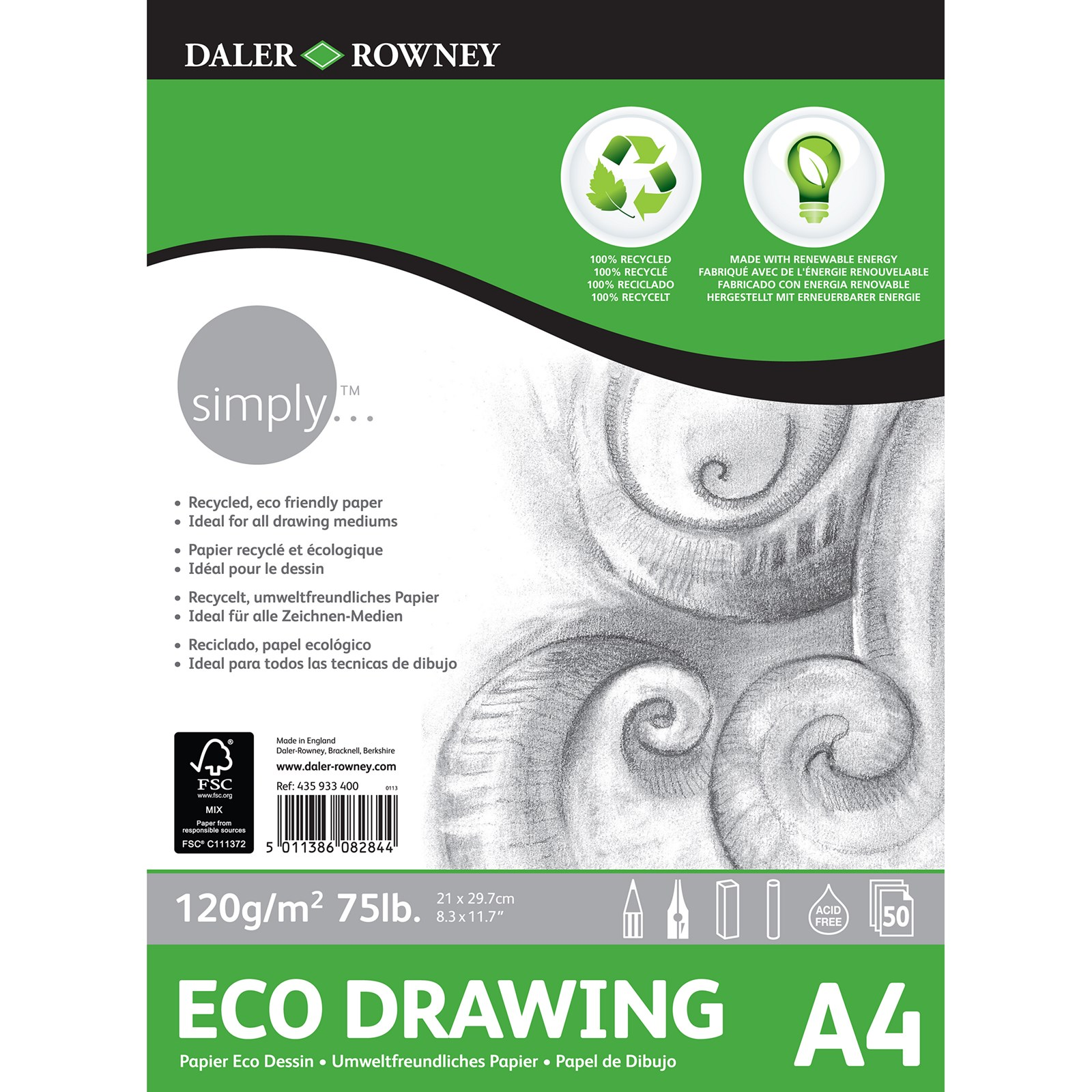 Simply Eco Drawing Pad - A4