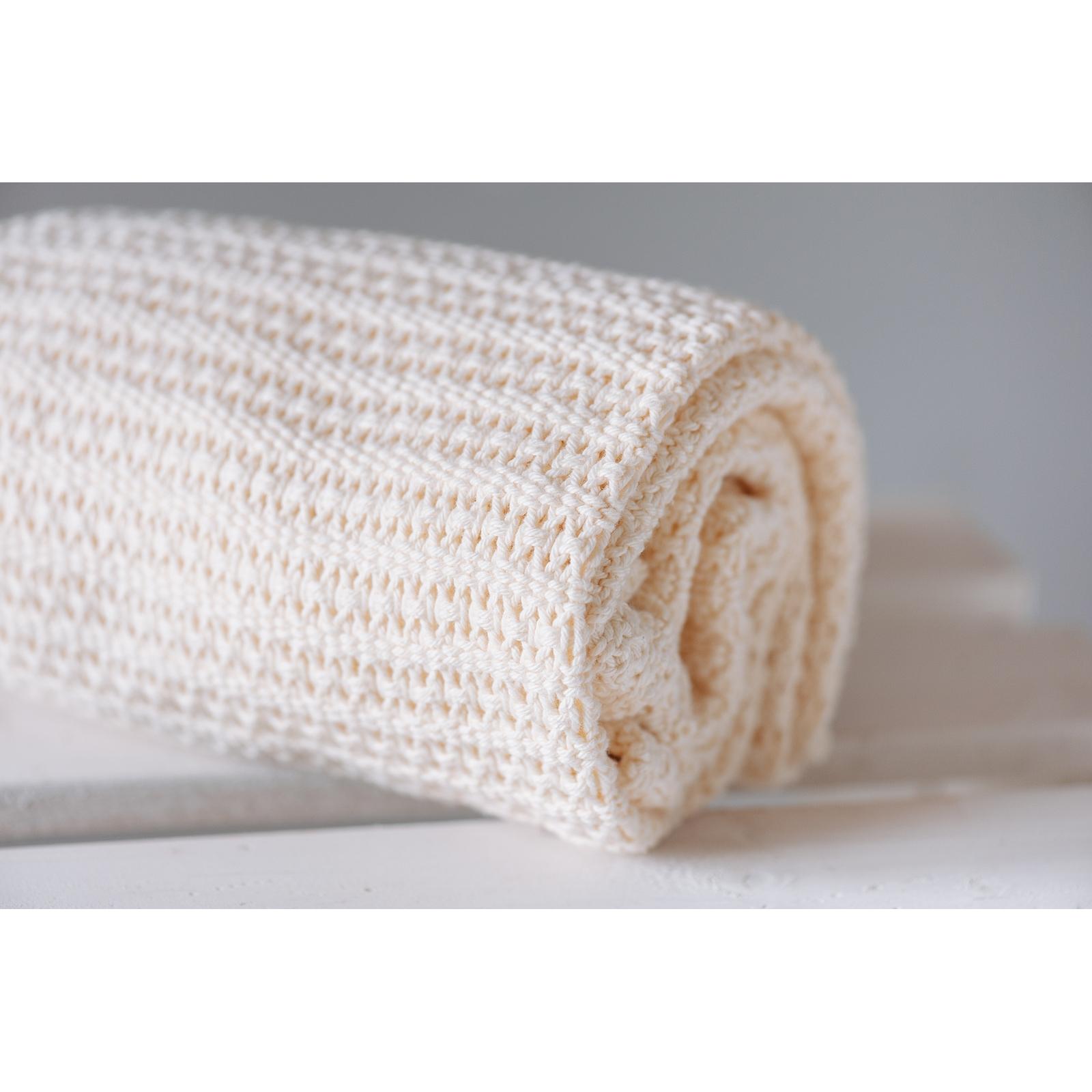 Cotton Cellular Blanket - Cream