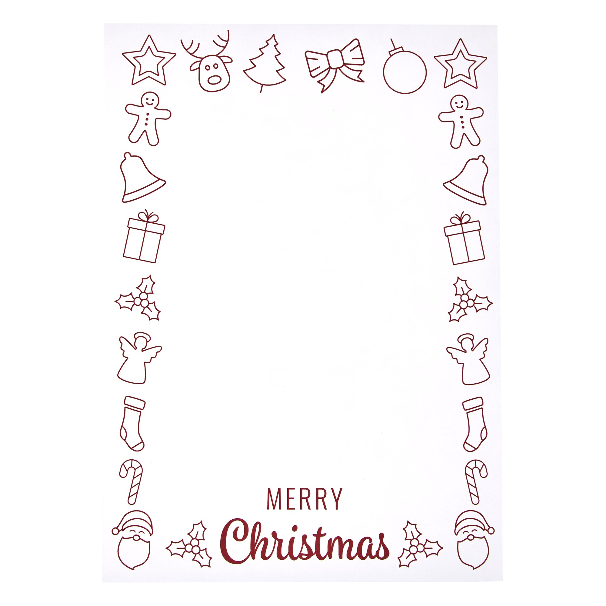 A4 Christmas Day Cards 160gsm (Pack of 50)