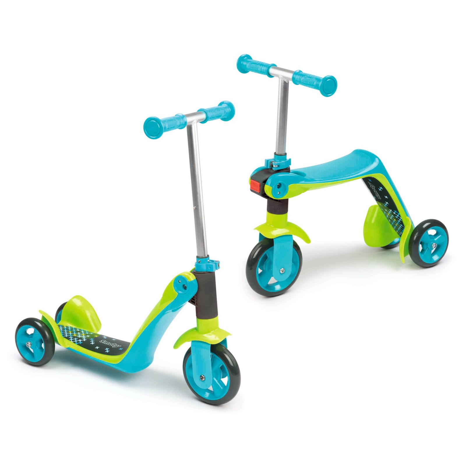 Reversable 2 In 1 Scooter Blue