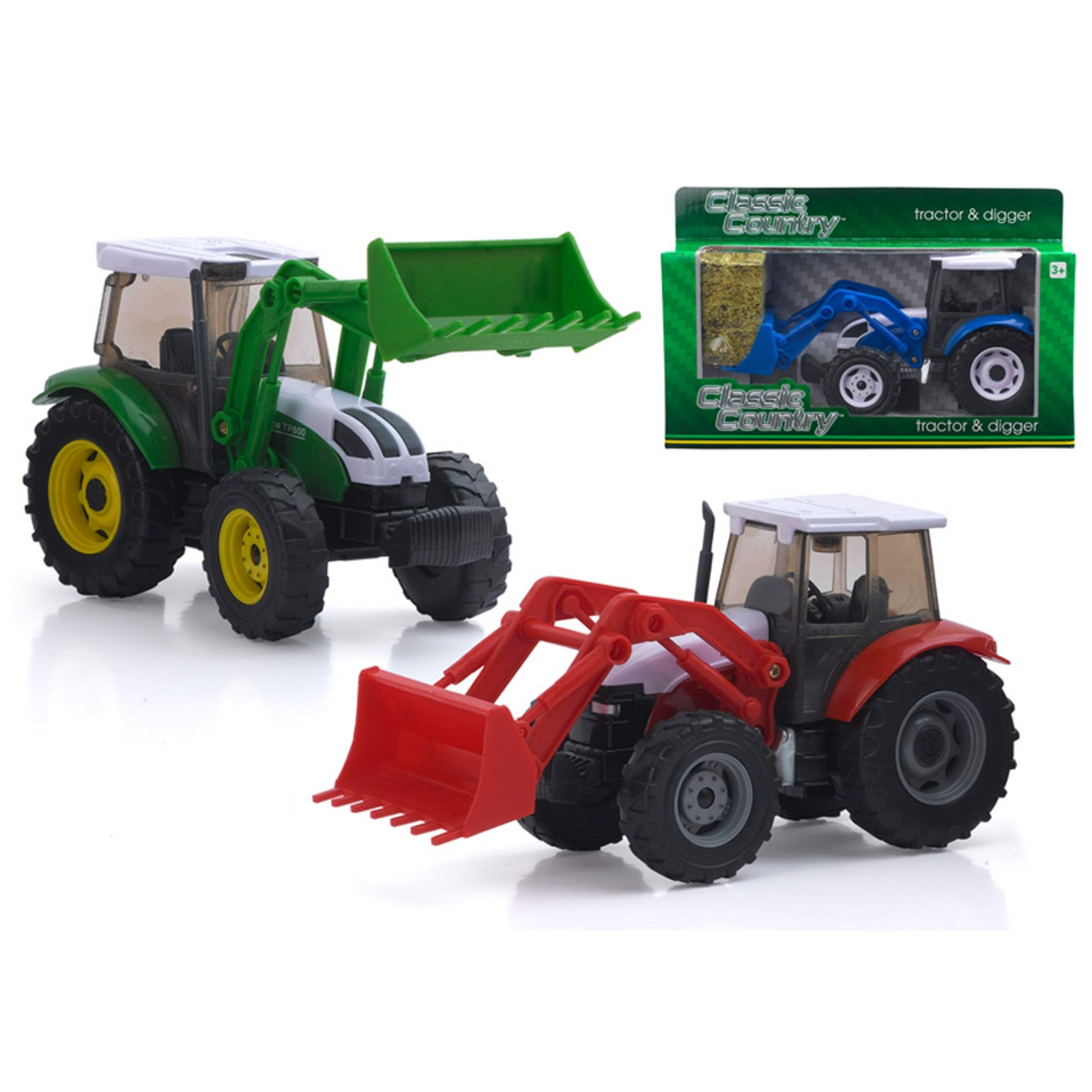 Large Farm Vehicles - Pack of 3