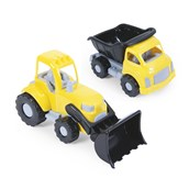 Dolu Construction Vehicles Double Set - Truck and Loader