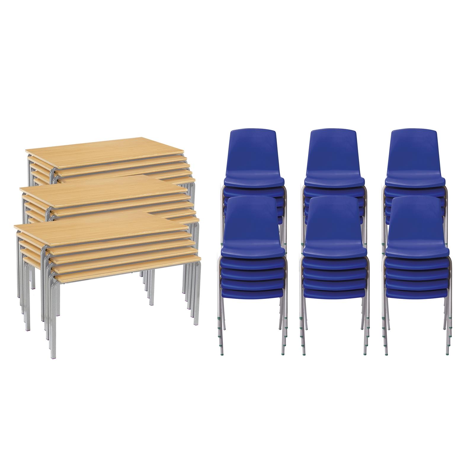CM 15FW Bch Tables 30Blue Chairs 8-11yr