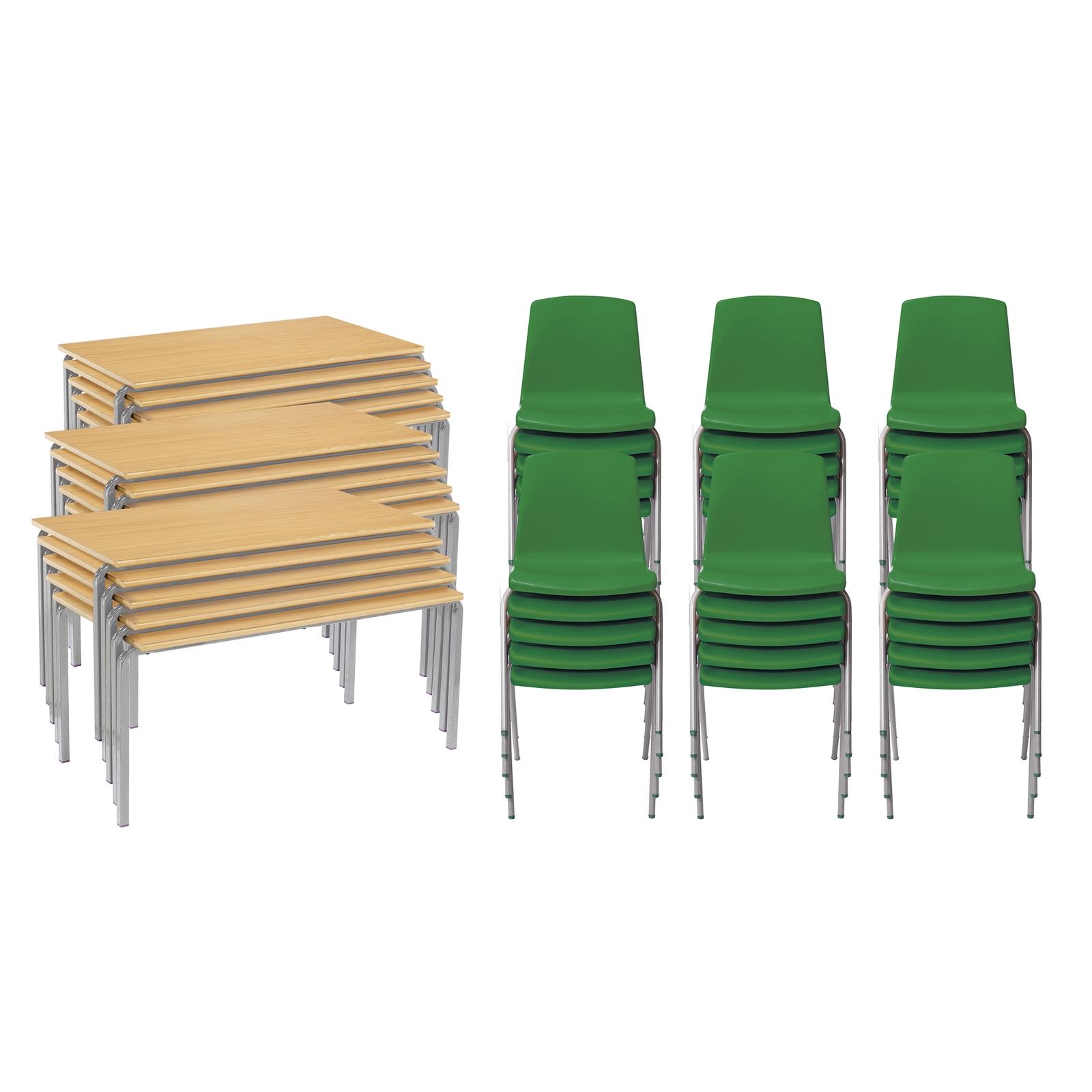CM 15 FW Bch Tables 30 Grn Chairs 8-11yr