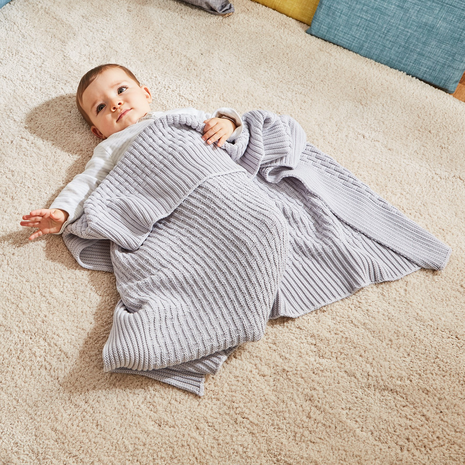 Knitted Blanket - Grey