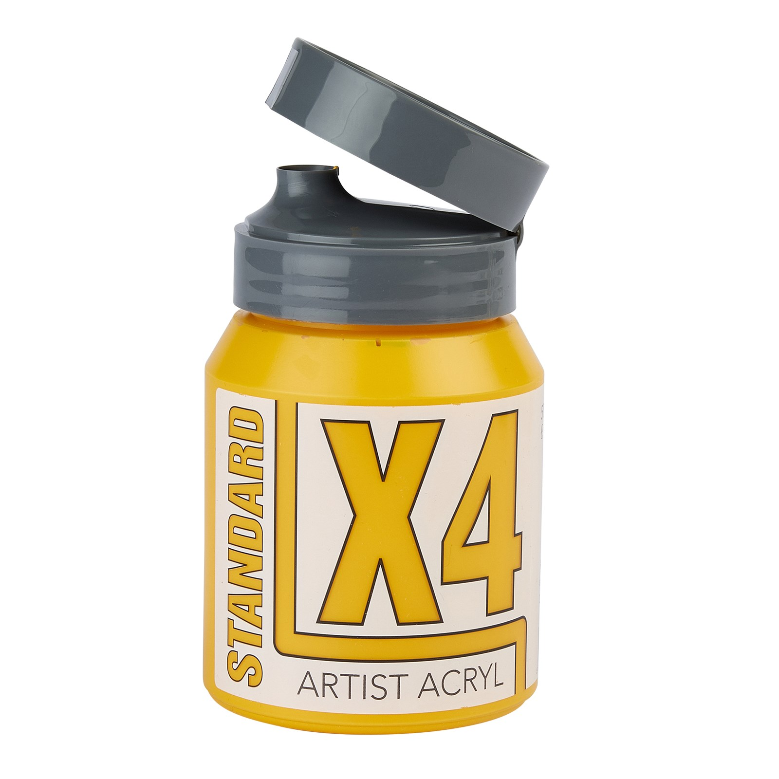 X4 Standard Acryl Acrylic Colours 500ml - Azo Yellow Deep