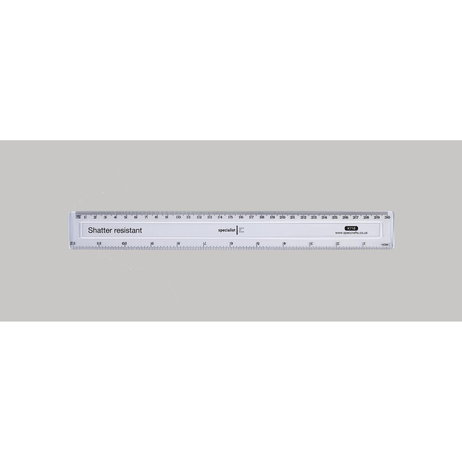 Specialist Crafts Shatter Resistant 30cm Ruler