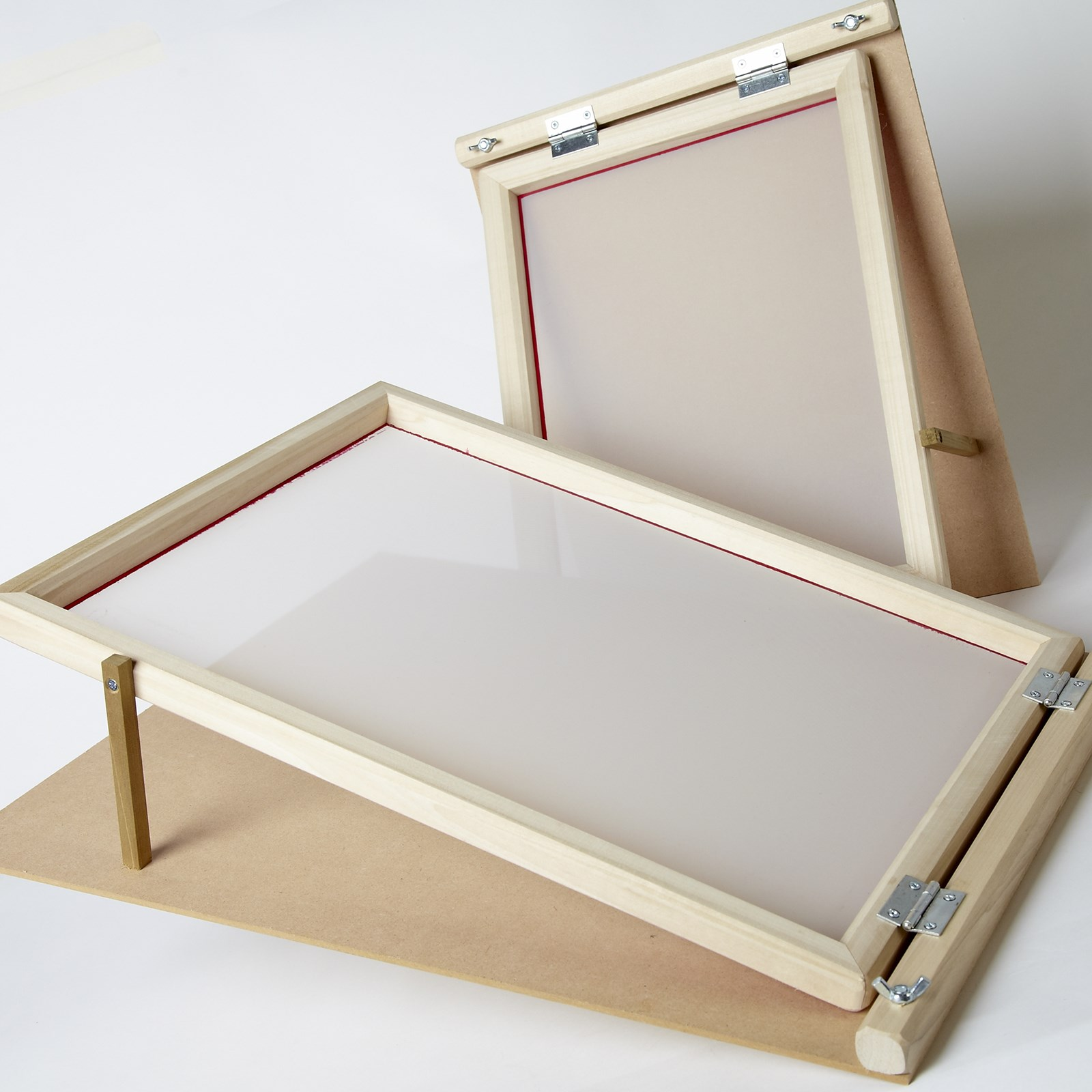 Standard Wooden Pre-Meshed Hinged Frames - For A4 Printing