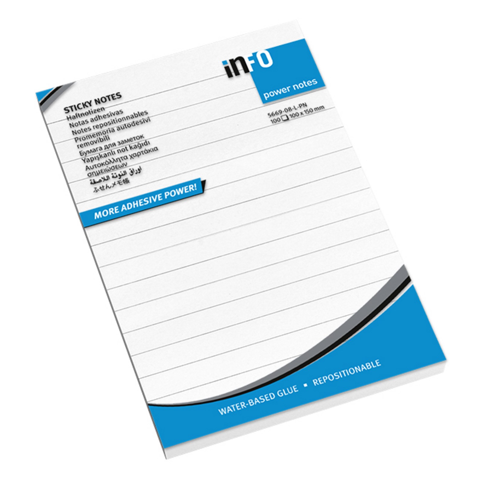 Sticky Notes Lined White 100 x 150 - Pack 12