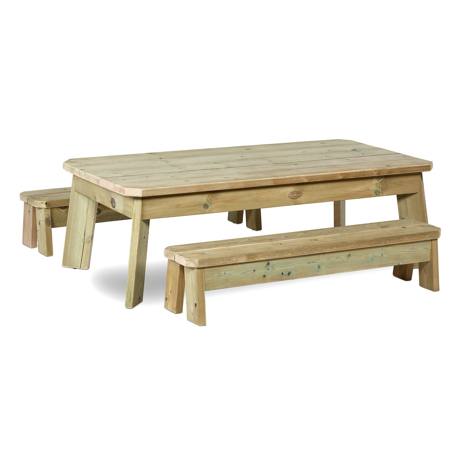 Rectangular Table & Bench Set - Toddler