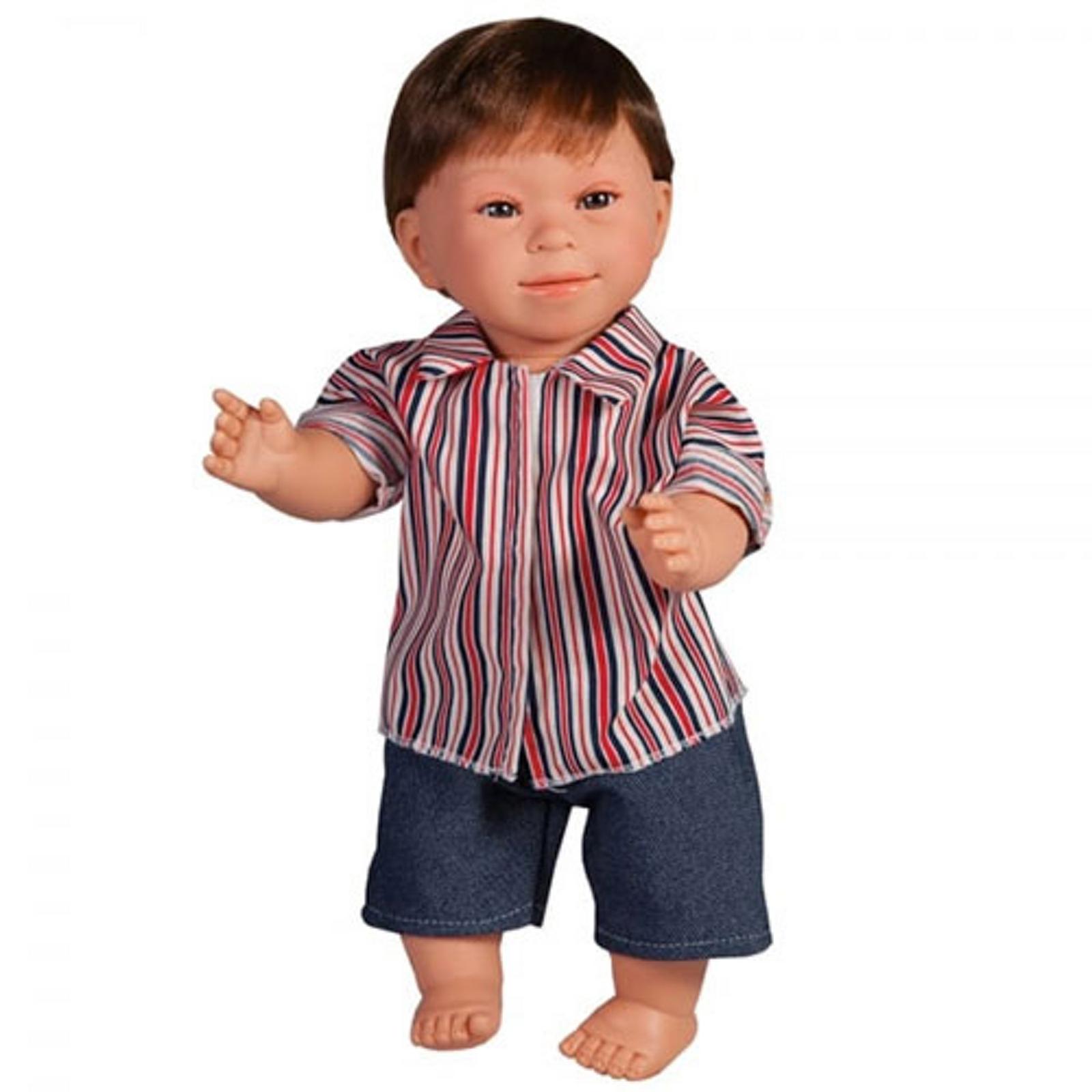 Boy Doll With Downs Syndrome Dark Hair