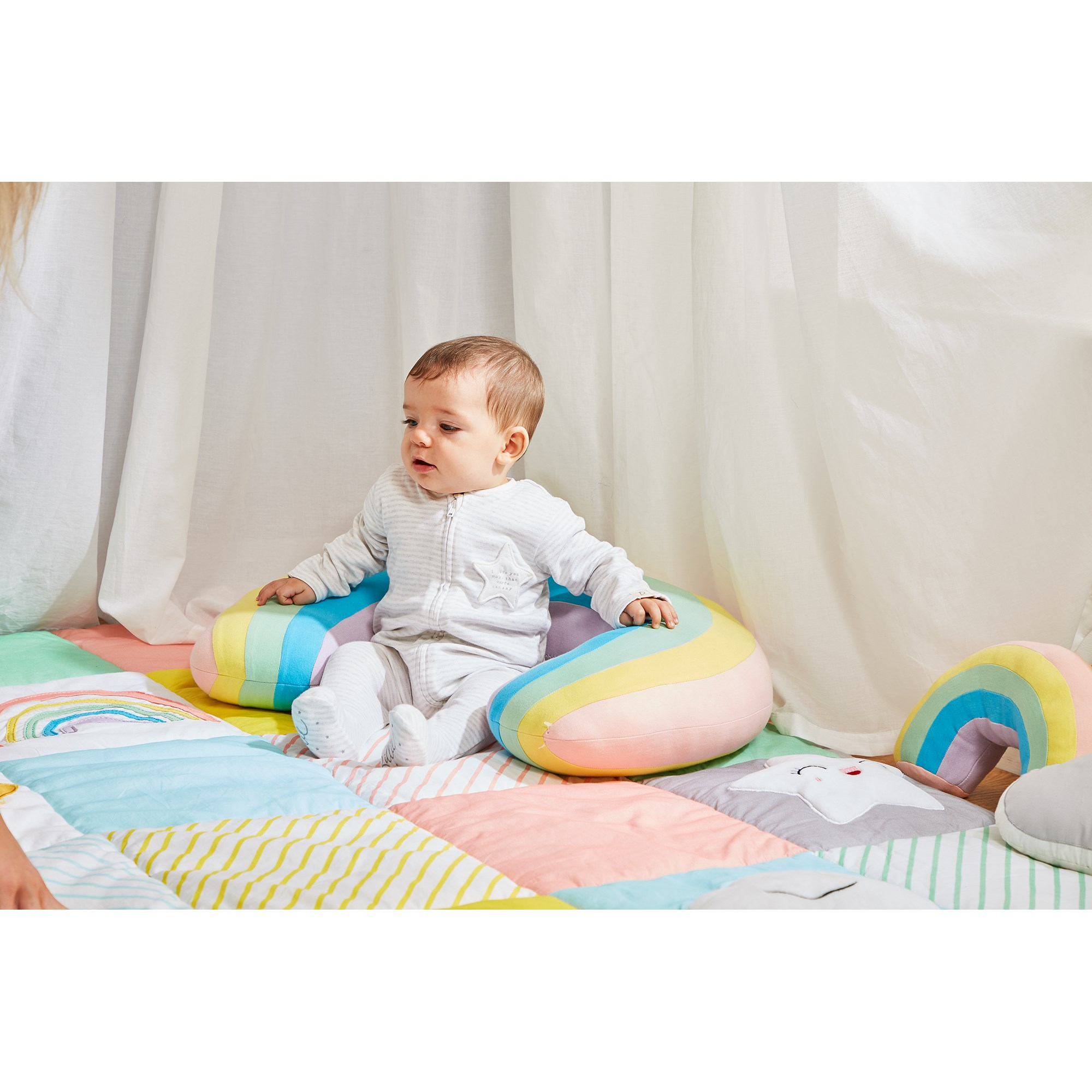 Rainbow Sit Up Cushion from Hope Education