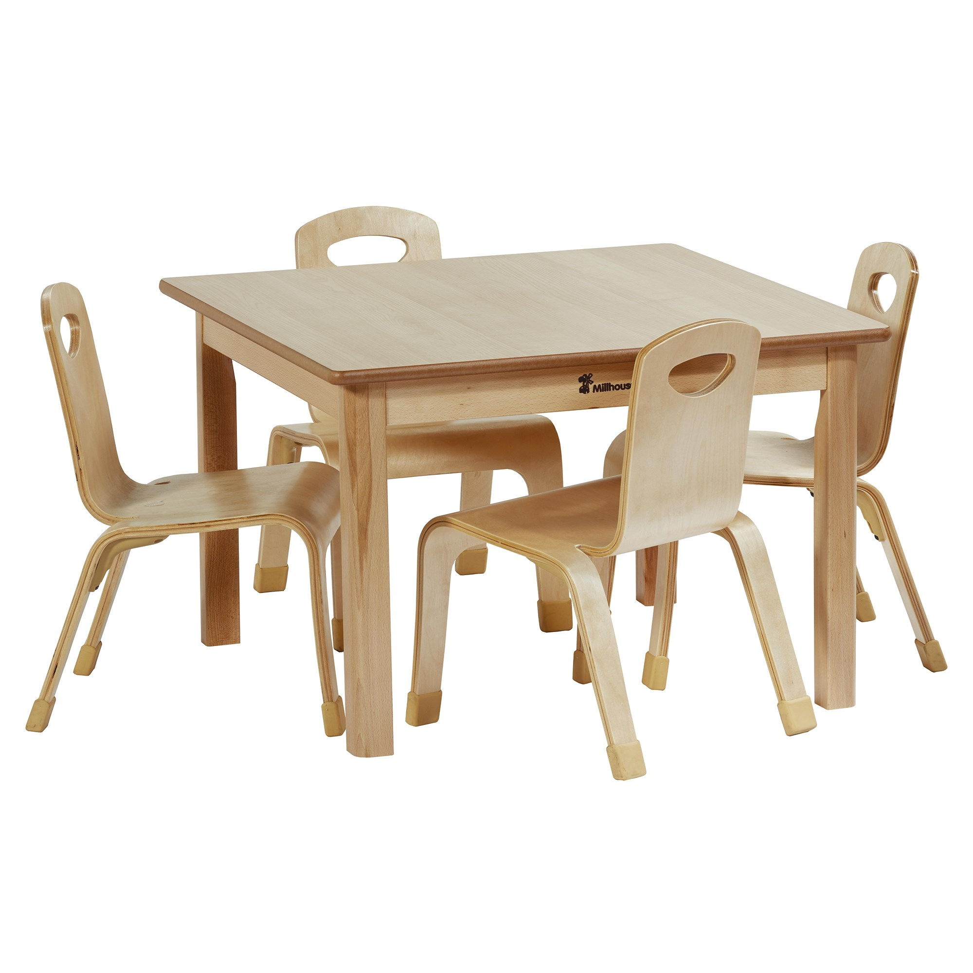 Playscapes Square Table H32cm 4 Chairs H21cm