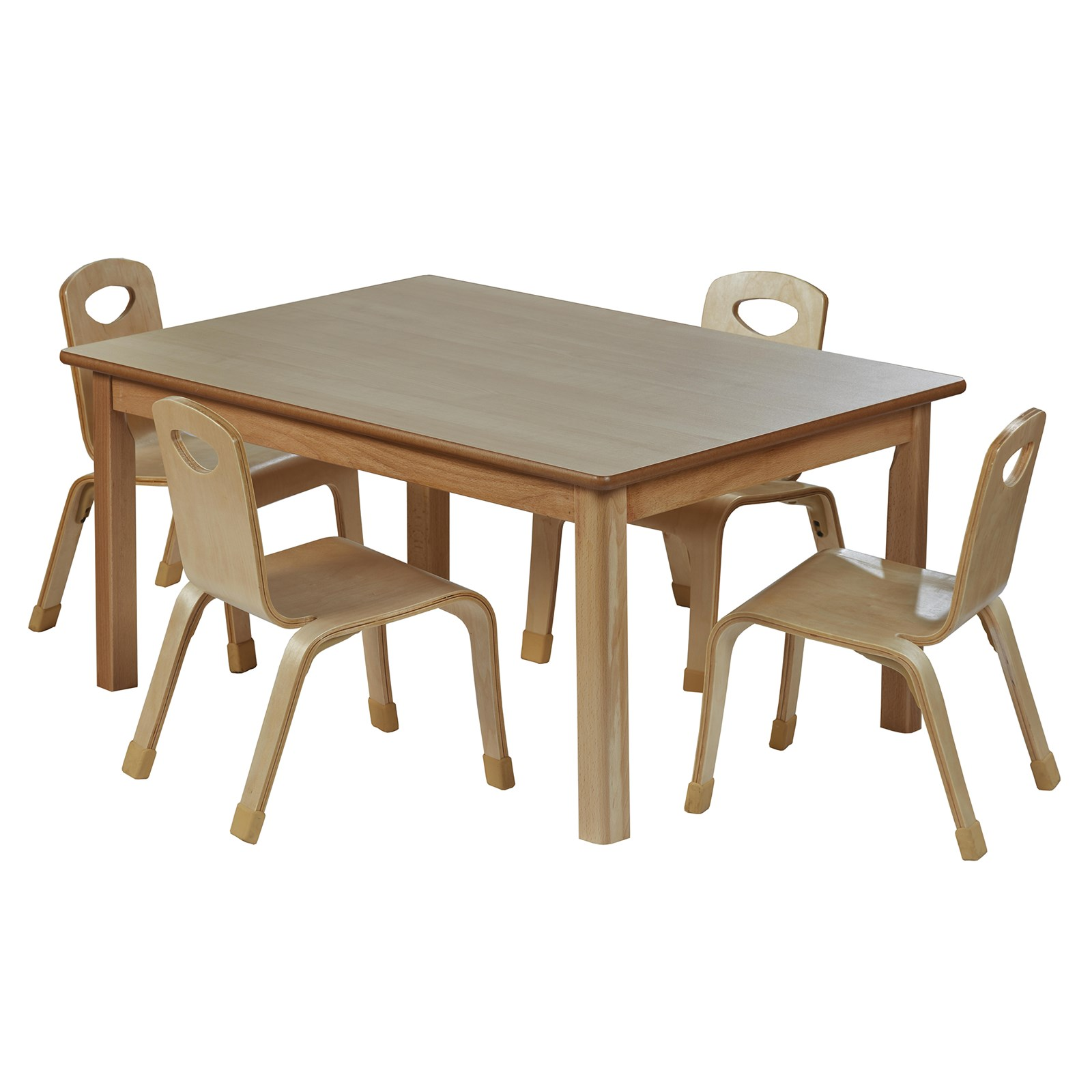 Playscapes Rect Table H46cm 4 Chairs H31cm