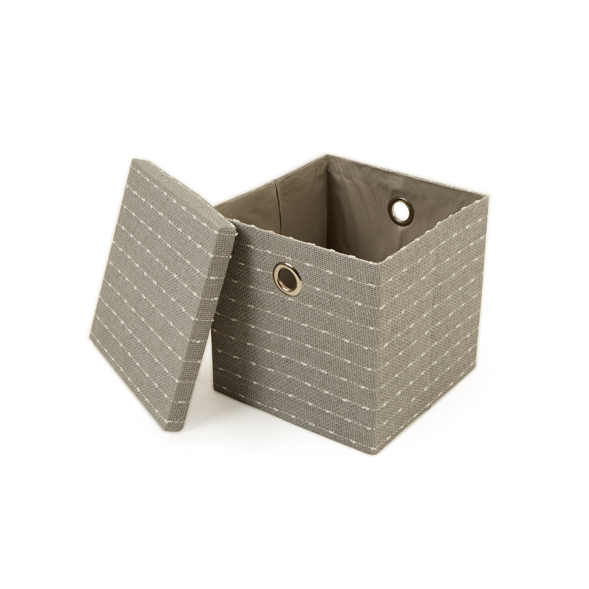 Grey And White Textured Foldable Box (Pack of 6)