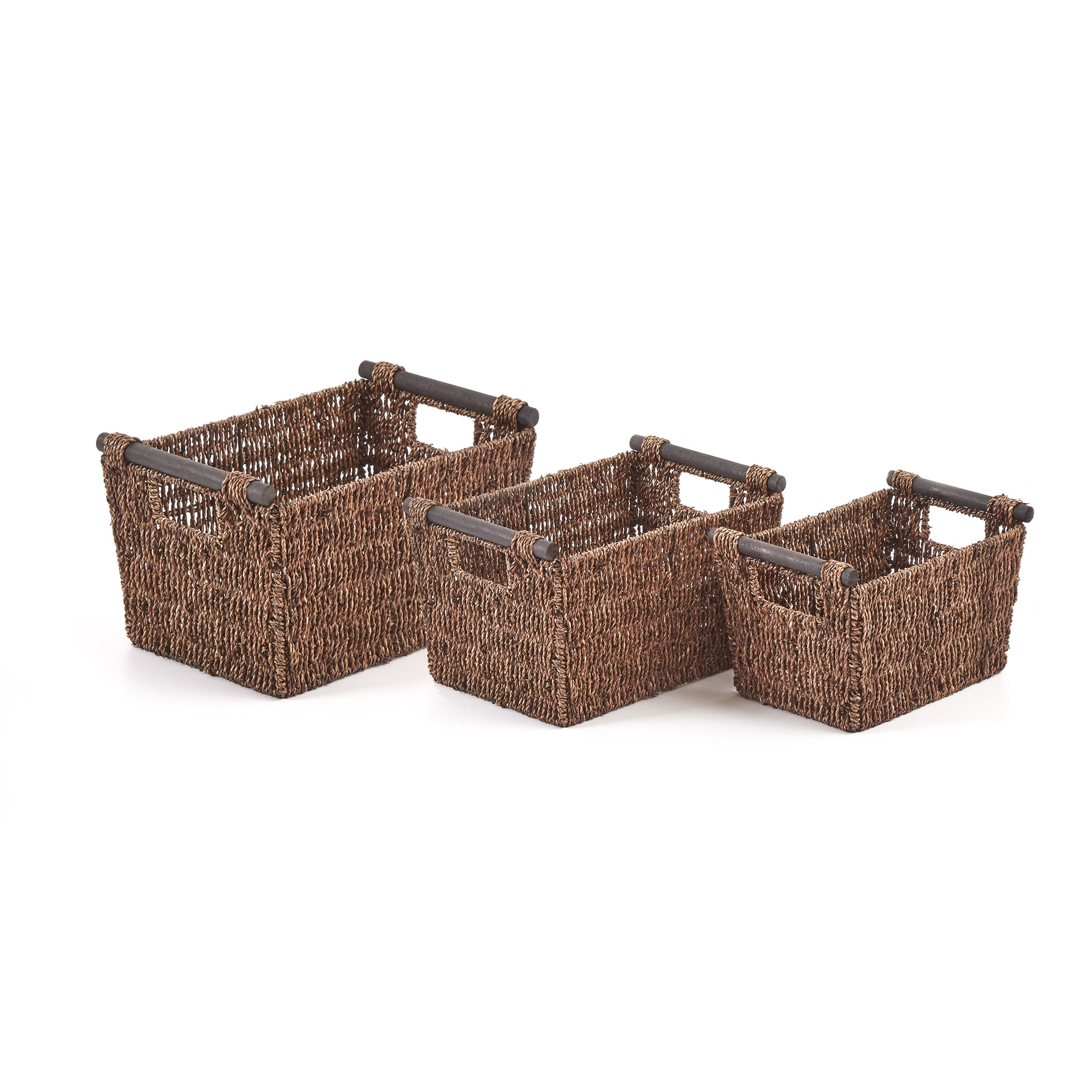 Natural Baskets (Pack of 3)
