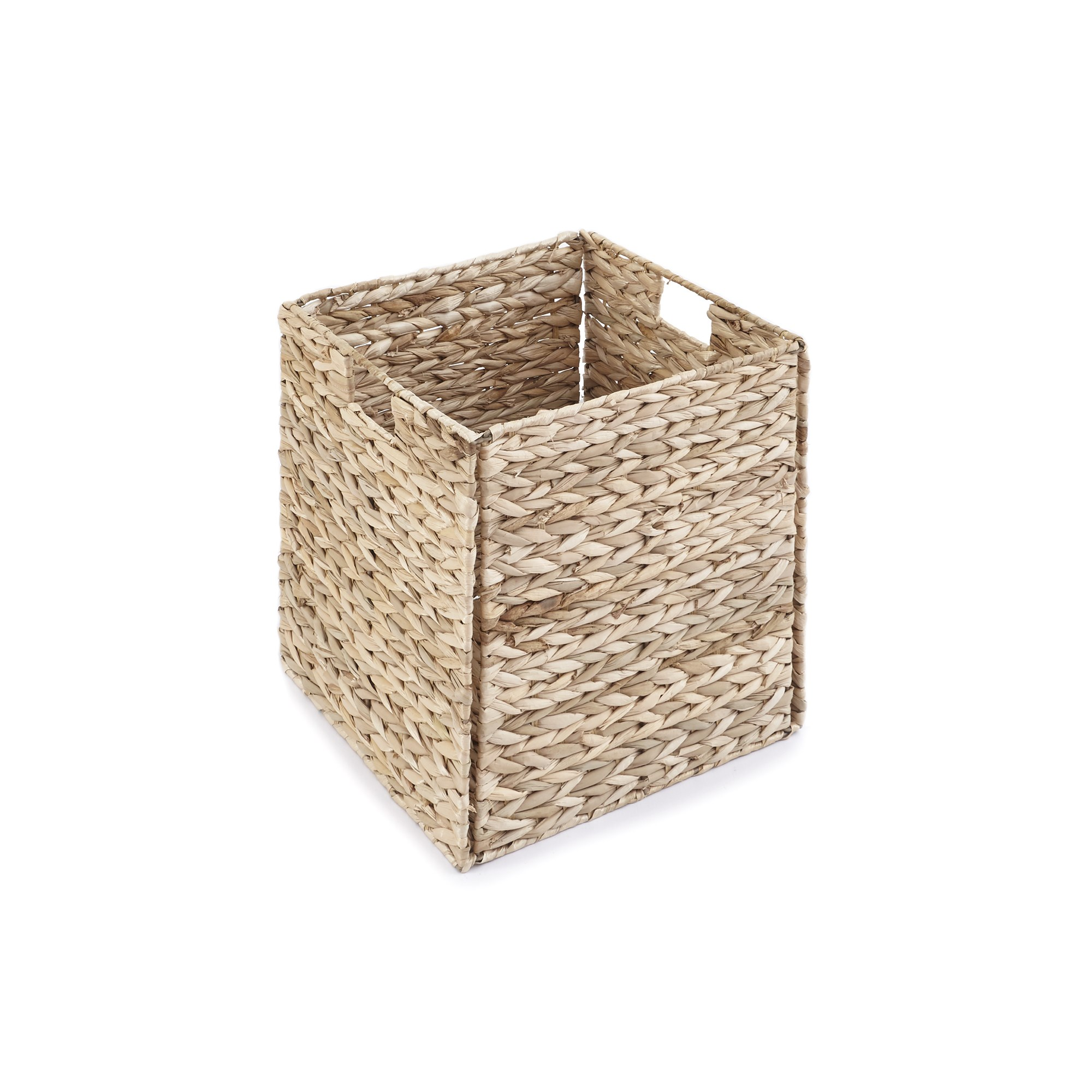 Single Whitewash Rush Foldable Basket (Pack of 8)