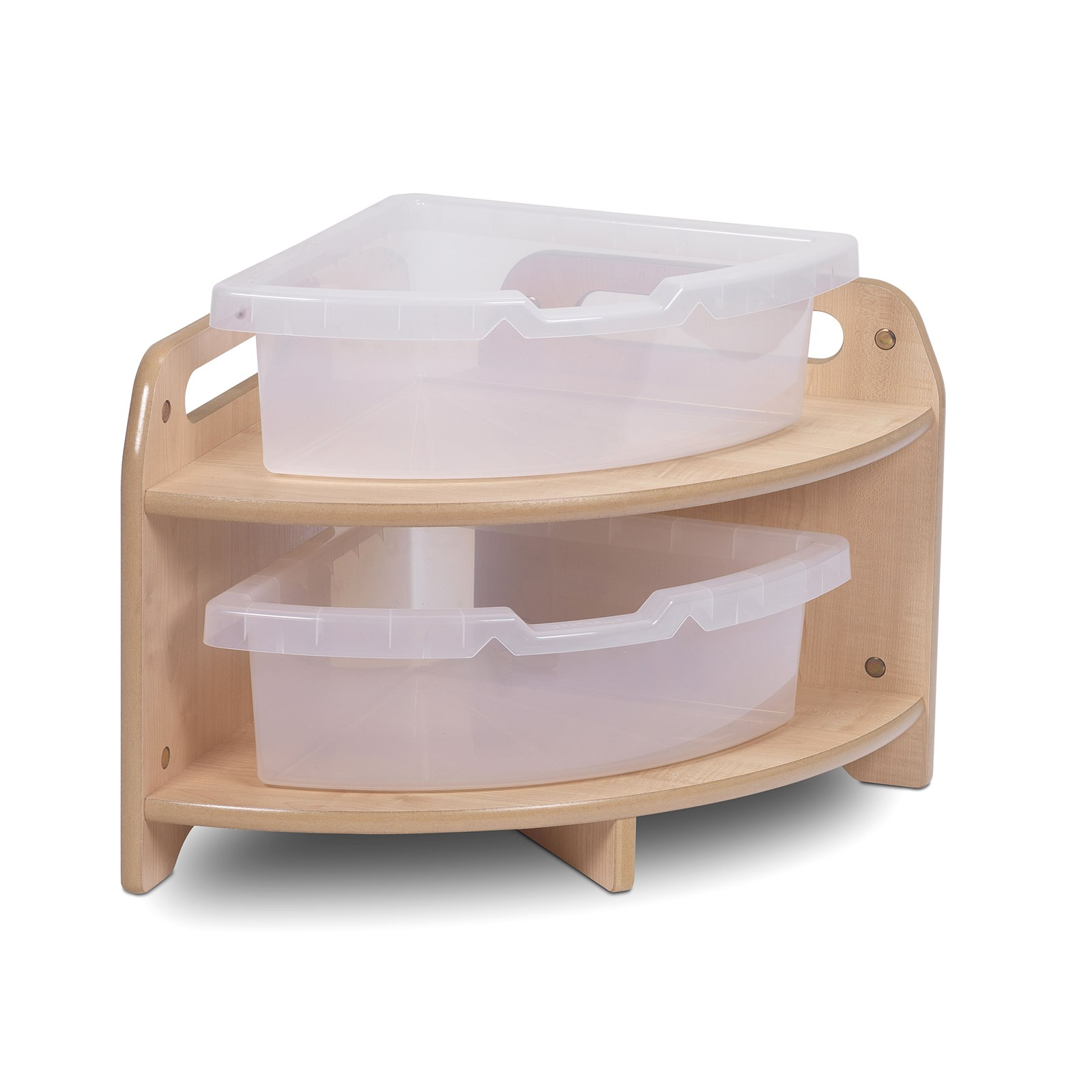Playscapes Low Corner Unit With 2 Clear Tubs