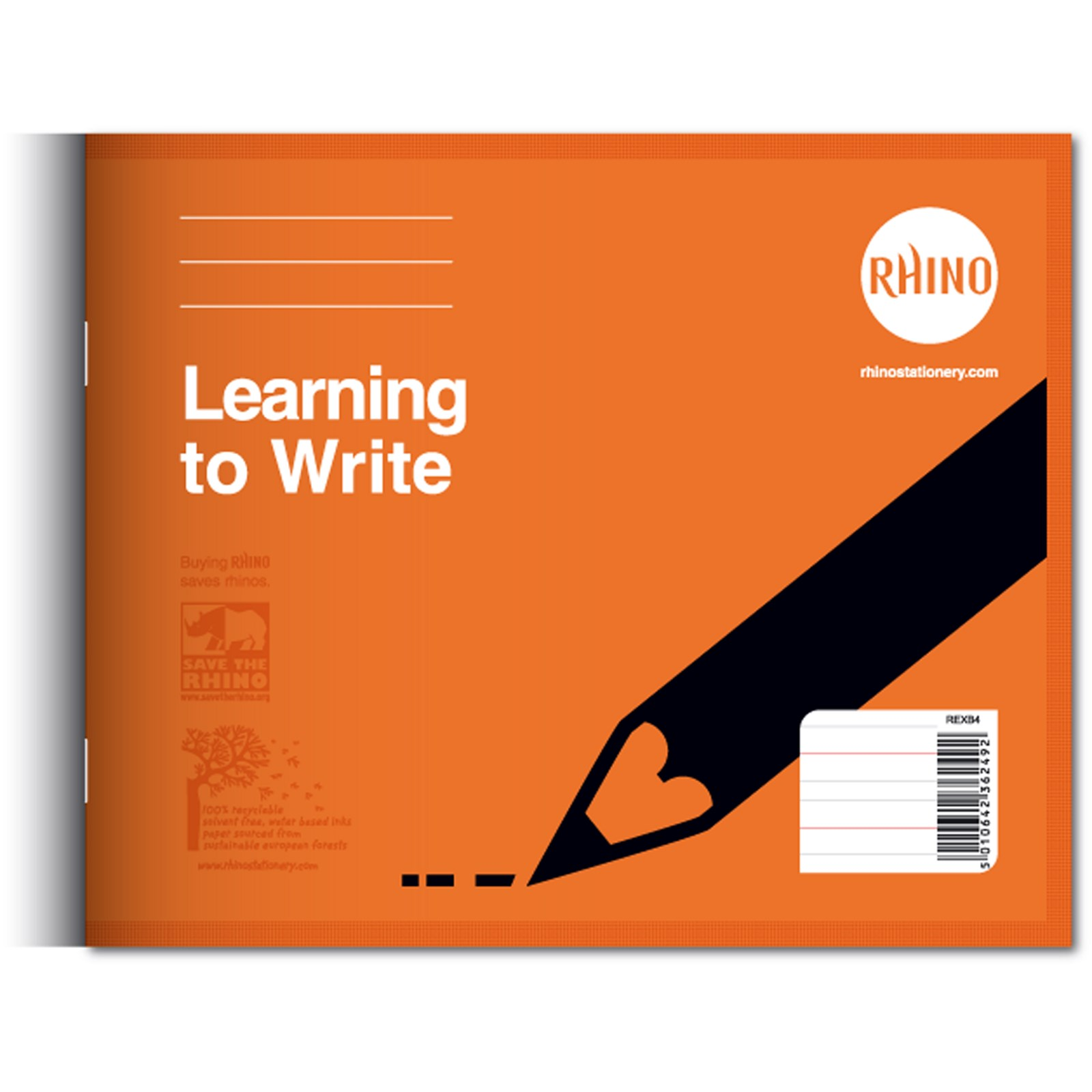 Learn to Write Book 32 pages, Orange - Pack of 25