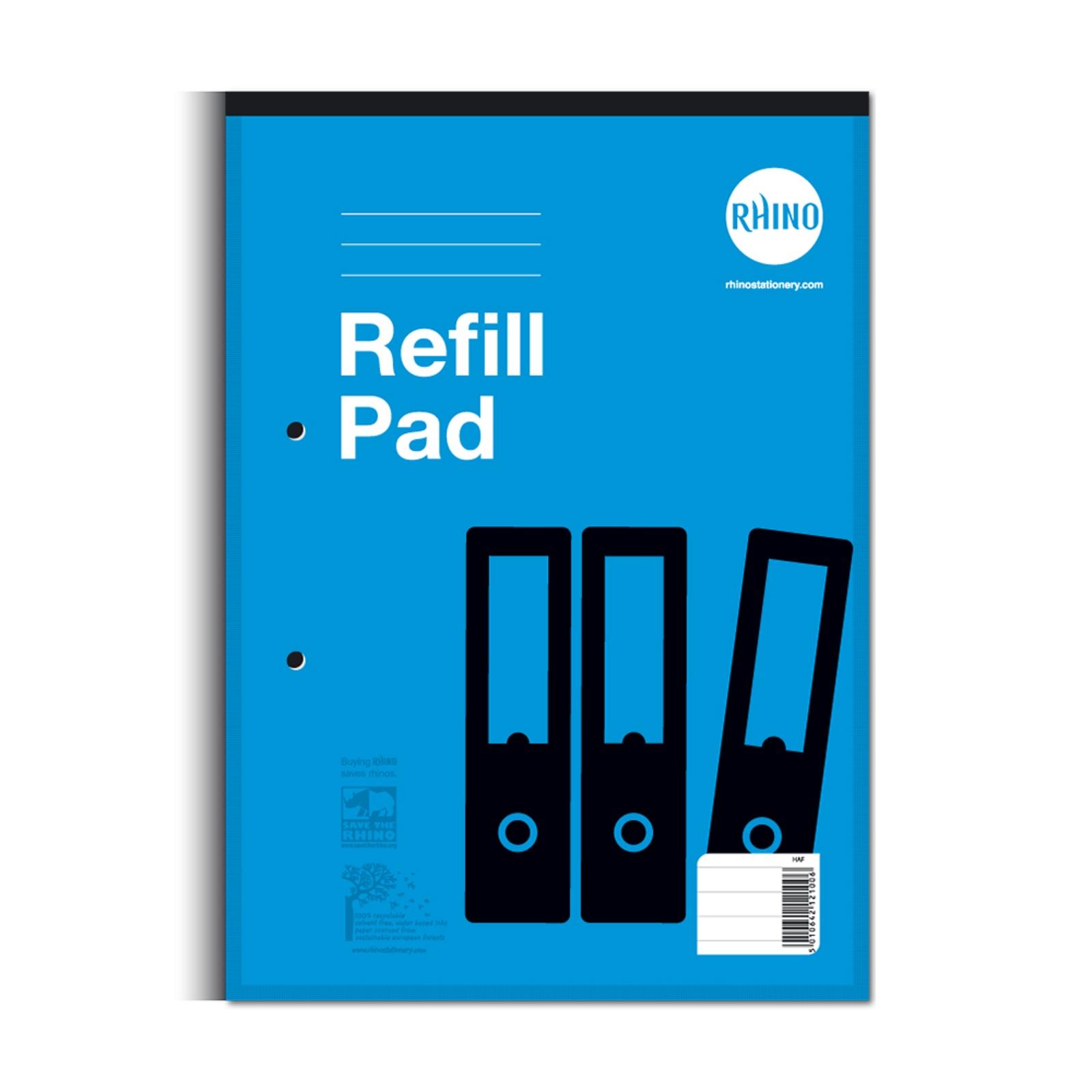 Refill Pads A4 Headbound 80p 8mm Blue P6