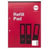 Refill Pads A4 80p 8mm Margin Red P6