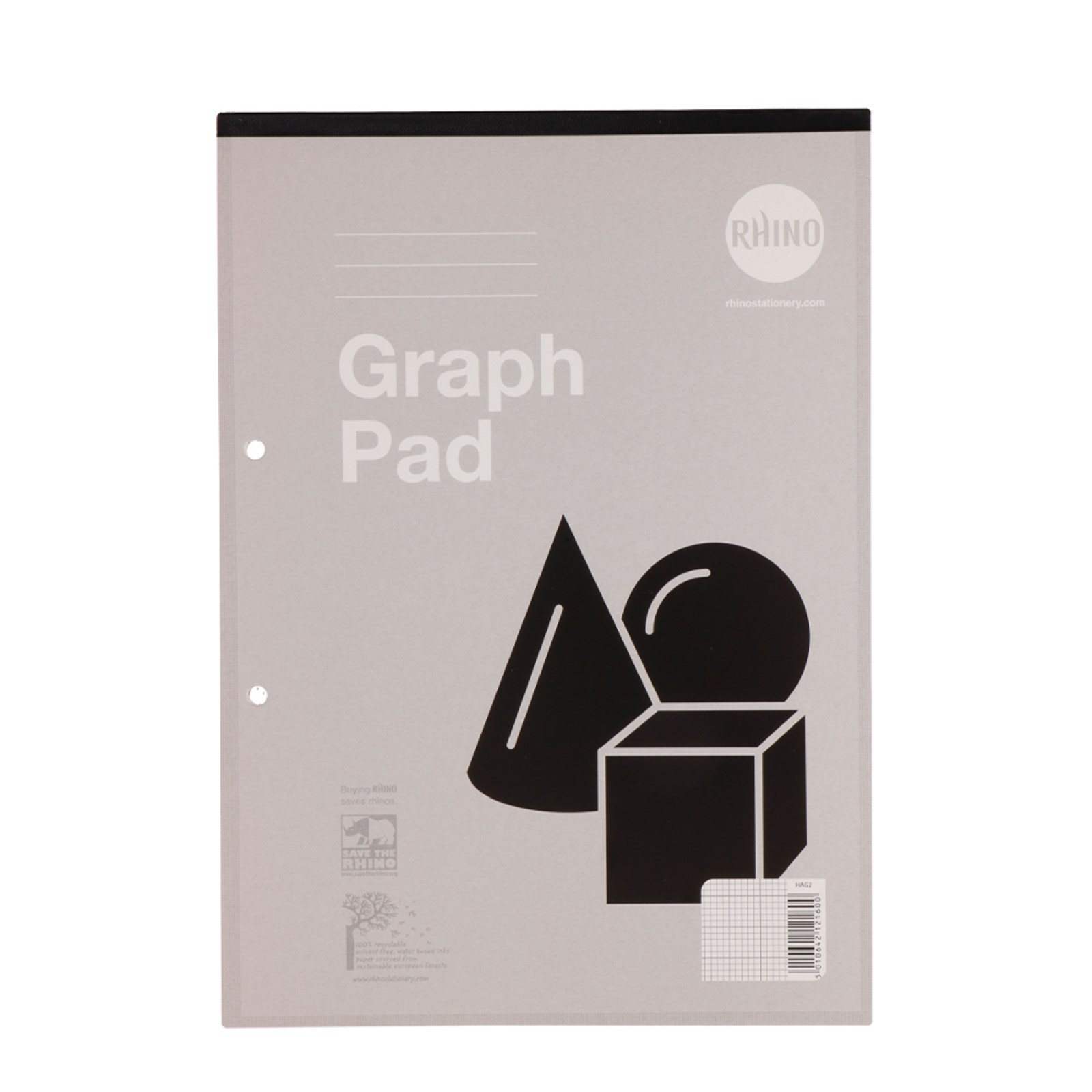 Refill Pads A4 50p Grph2-10-20mm Grey P6