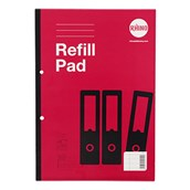 Refill Pads A4 80p 8mm Rul Margin Red P6