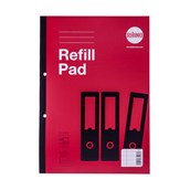 Refill Pads A4 160P 8mm Line with Margin Red Pack of 3