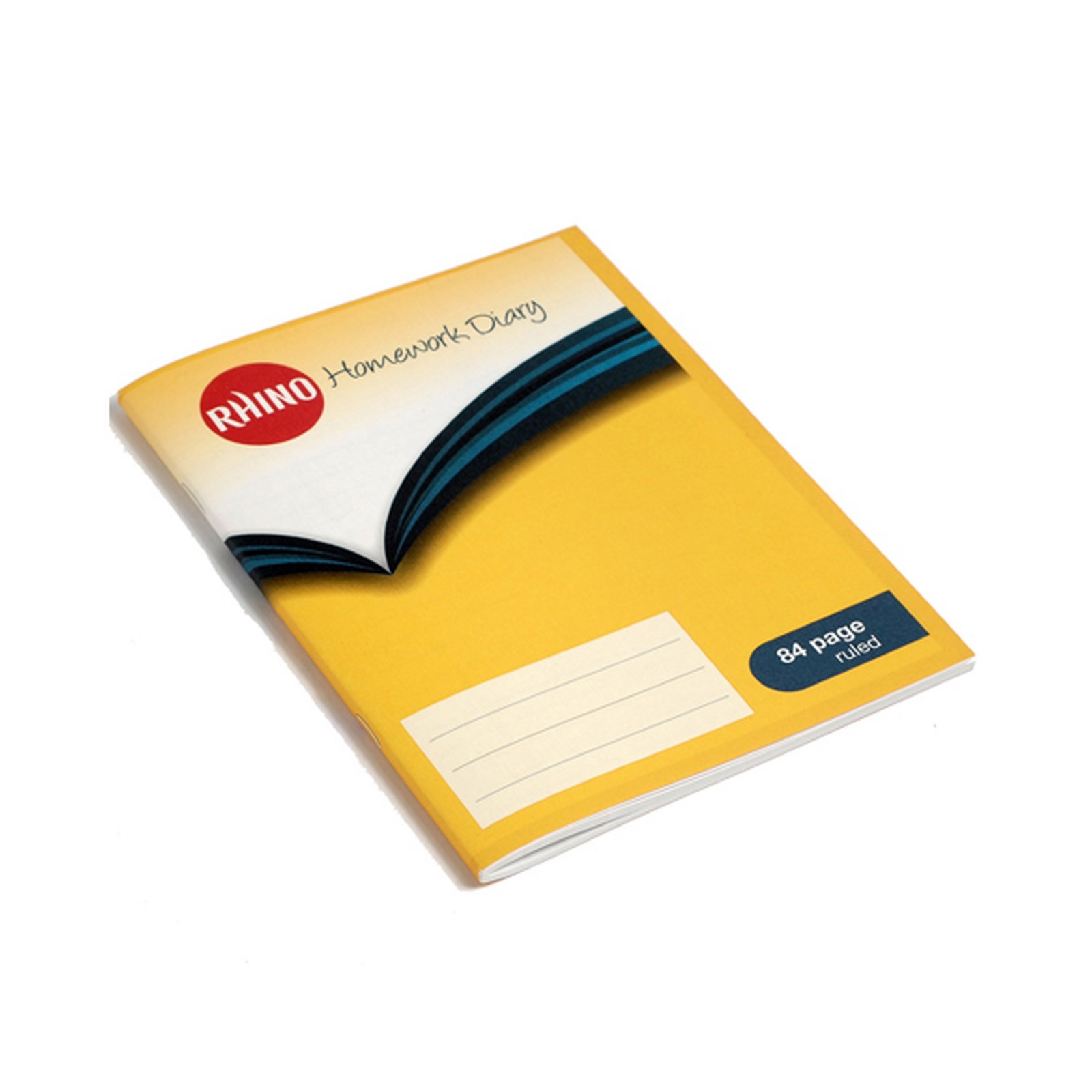 Homework Diary, 5 Day, 84 Pages, Yellow Cover - Pack of 100