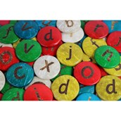 Lowercase Alphabet Coconut Shells  - Pack of 52