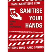 Sanitise Your Hands A3 S A Poster