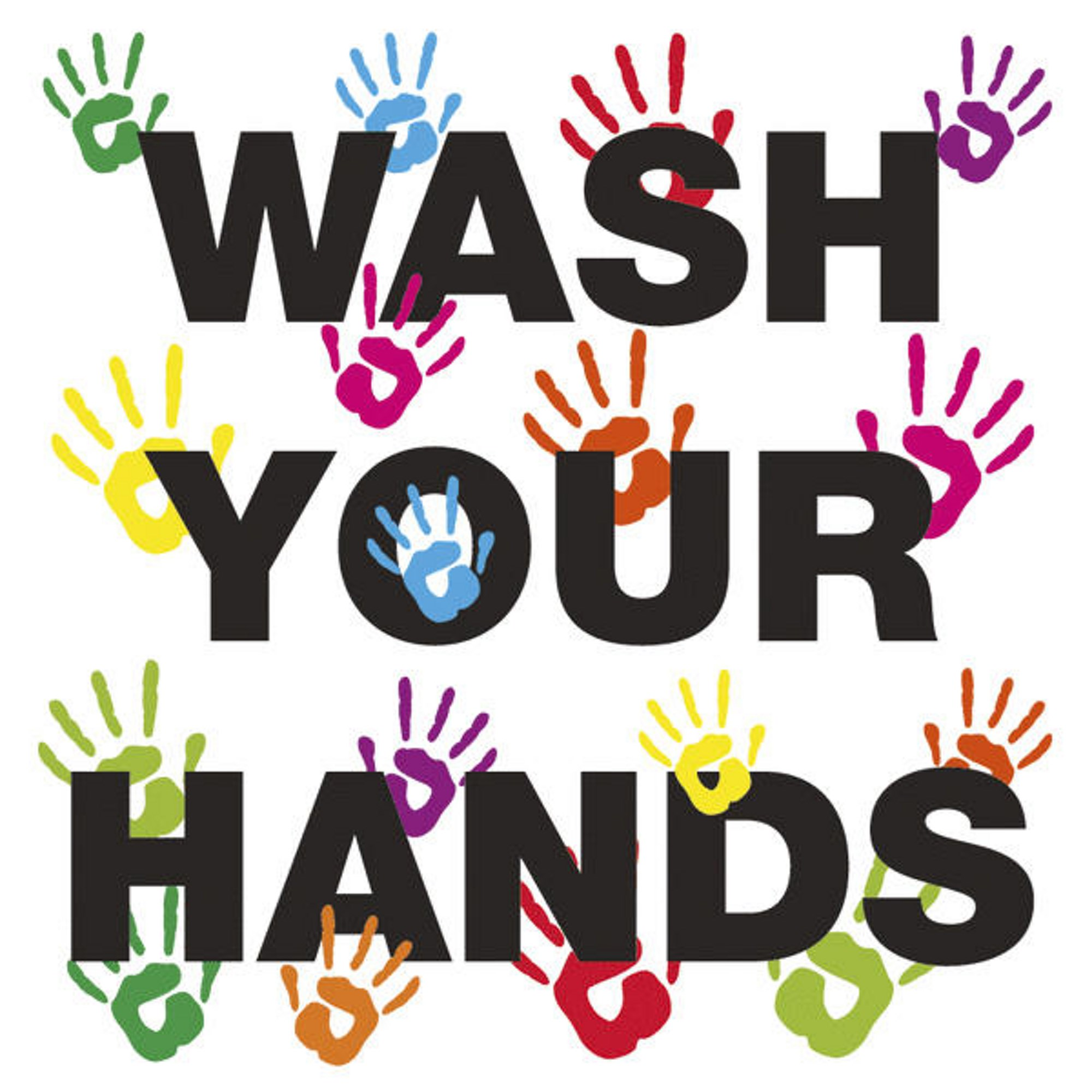 Wash Your Hands 200 x 200mm Self-Adhesive Vinyl Poster