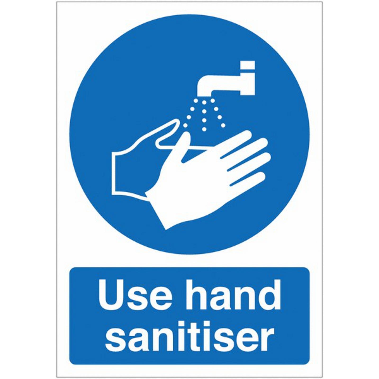 Use Hand Sanitiser A4 Self-Adhesive Poster