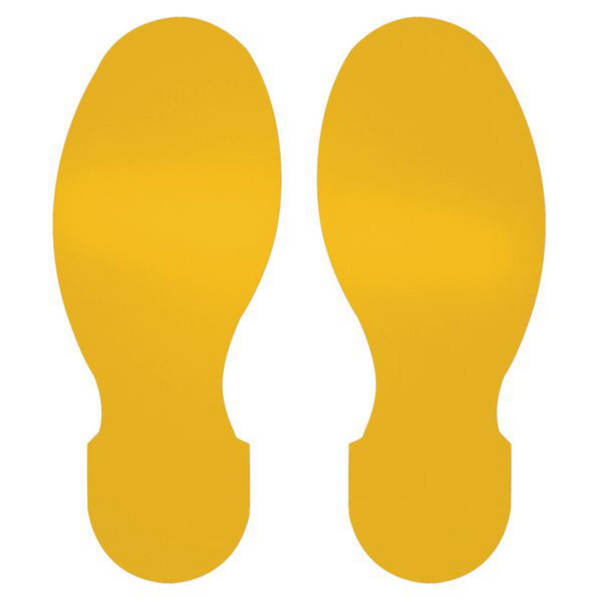300mm Footprints Floor Signs (Pack of 10)