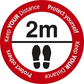 Keep Your Distance Floor Sign 480 x 480mm