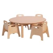 Circular Table 1000X400  4 Chairs 20cm